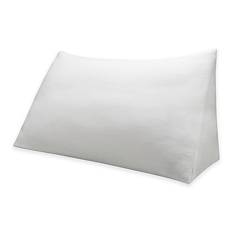 Therapedic 174 Reading Wedge Pillow With Knit Cover In White