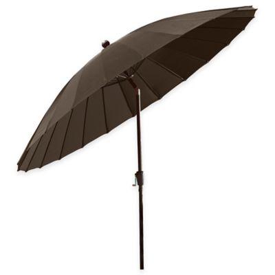 10 Foot Shanghai Market Umbrella In Chocolate