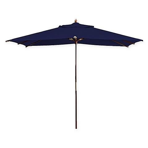 Deluxe 10 Foot Rectangle Eucalyptus Wood Patio Umbrella