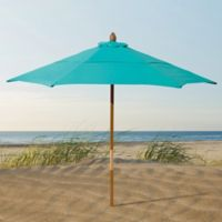 Resort 7 3/4-Foot Wood Beach Umbrella in Yellow