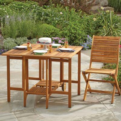 Westerly Acacia Wood Folding Table