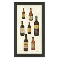 Framed Giclée Wine Bottles Panel I Print Wall Art