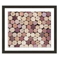 Framed Giclée Wine Corks I Print Wall Art