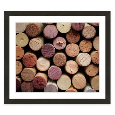 framed gicle wine corks ii print wall art