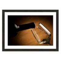 Framed Giclée Wine and Glass Print I Wall Art