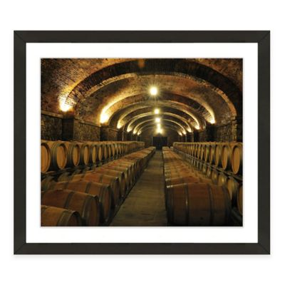 Framed Giclée Winery Print II Wall Art