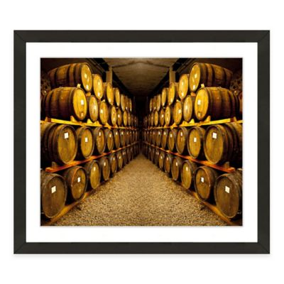 Elegant Framed Giclée Winery Print III Wall Art