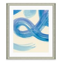 Blue Brushstroke II Framed Art Print