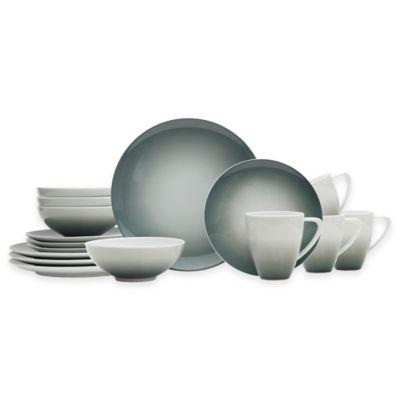 Mikasa® Naya 16-Piece Dinnerware Set in Grey Ombré  sc 1 st  Bed Bath u0026 Beyond & Buy Gray Dinnerware from Bed Bath u0026 Beyond