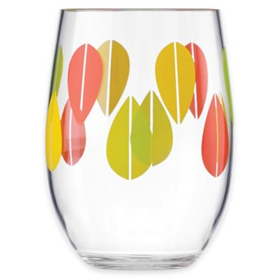 dansk the burbs acrylic stemless wine glass in clearmulti