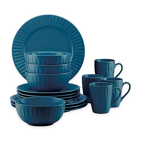 Dansk® The Burbs Carved 16-Piece Dinnerware Set in Medium Blue  sc 1 st  Bed Bath u0026 Beyond & Dansk® The Burbs Carved 16-Piece Dinnerware Set in Medium Blue - Bed ...