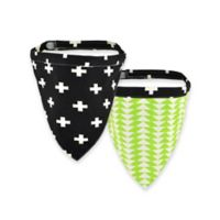 Territory® Modern Small Reversible Dog Bandana in Black/Green