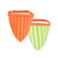 Territory® Modern Small Reversible Dog Bandana in Orange/Green