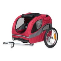 HoundAbout™ Classic Medium Dual Front Door Bicycle Pet Trailer in Red
