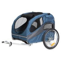 HoundAbout™ Classic Large Dual Front Door Bicycle Pet Trailer in Blue
