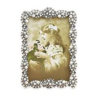 Tizo Design 4-Inch x 6-Inch Faux-Pearl Cluster Jeweltone with Crystals Picture Frame