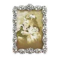 Tizo Design 5-Inch x 7-Inch Faux-Pearl Cluster Jeweltone with Crystals Picture Frame