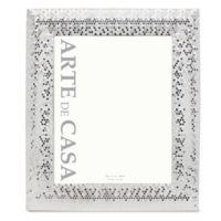 Arte de Casa 8-Inch x 10-Inch Silver Sequins Frame