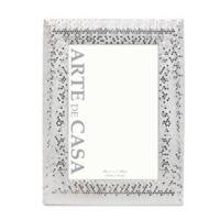 Arte de Casa 5-Inch x 7-Inch Silver Sequins Frame