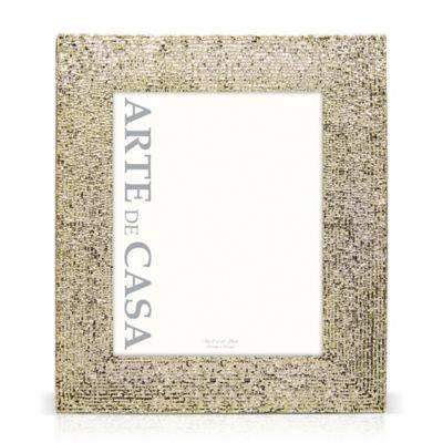 arte de casa 8 inch x 10 inch bead picture frame in champagne