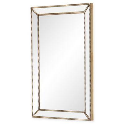 Rectangular Wall Mirror buy beaded wall mirror from bed bath & beyond