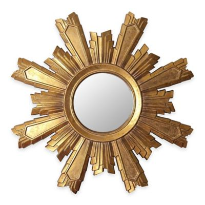 Abbyson Living® Mikah Sunburst Wall Mirror in Gold  sc 1 st  Bed Bath u0026 Beyond & Buy Sunburst Wall Decor from Bed Bath u0026 Beyond