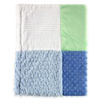 BabyVision® Hudson Baby® Multi-Fabric 12-Panel Blanket in Blue