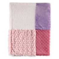 BabyVision® Hudson Baby® Multi-Fabric 12-Panel Blanket in Pink