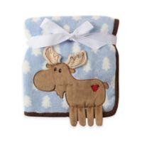 BabyVison® Hudson Baby® Coral Fleece 3-D Animal Blanket in Blue