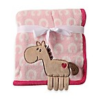 BabyVison® Hudson Baby® Coral Fleece 3-D Animal Blanket in Pink