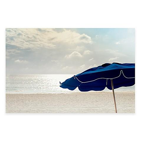 Blue Umbrella 35-Inch x 23-Inch Wall Art - Bed Bath & Beyond