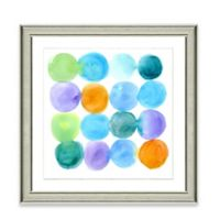 Watercolor Dots II Framed Art Print