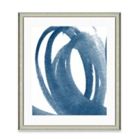 Navy Brushstroke III Framed Art Print