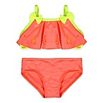 Baby Buns Size 24M 2-Piece Pineapple Cut-out Swimsuit in Orange/Yellow