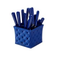 Q Squared Provence 20-Piece Flatware Set with Caddy in Montecito Blue