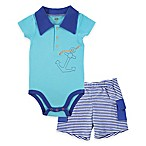 BabyVision® 2-Piece Anchor Bodysuit and Cargo Short Set in Blue