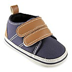 BabyVision® Luvable Friends™ Size 6-12M Hook-and-Loop Crib Shoe in Navy