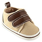 BabyVision® Luvable Friends™ Size 0-6M Canvas Hook-and-Loop Crib Shoe in Tan