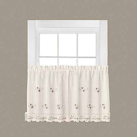 Buy Live Laugh Love 36 Inch Window Curtain Tier Pair