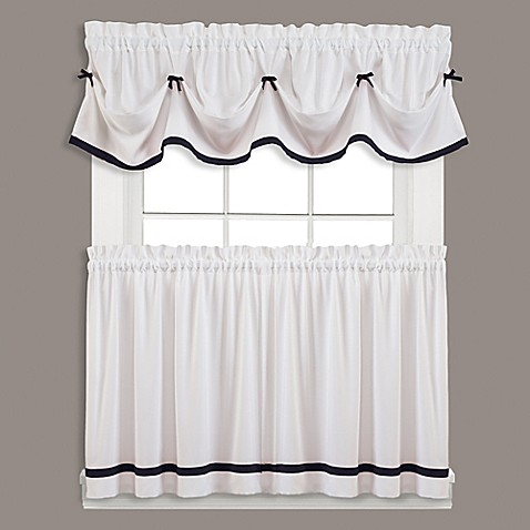 kate window curtain panel and valance bed bath amp beyond 85727