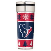 """NFL Houston Texans 22 oz. """"Ugly Sweater"""" Stainless Steel Travel Tumbler"""