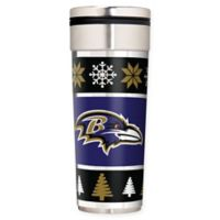 "NFL Baltimore Ravens 22 oz. ""Ugly Sweater"" Stainless Steel Travel Tumbler"