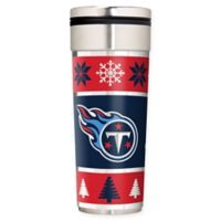 """NFL Tennessee Titans 22 oz. """"Ugly Sweater"""" Stainless Steel Travel Tumbler"""