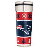 """NFL New England Patriots 22 oz. """"Ugly Sweater"""" Stainless Steel Travel Tumbler"""