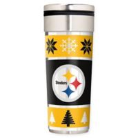 """NFL Pittsburgh Steelers 22 oz. """"Ugly Sweater"""" Stainless Steel Travel Tumbler"""