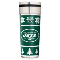 "NFL New York Jets 22 oz. ""Ugly Sweater"" Stainless Steel Travel Tumbler"