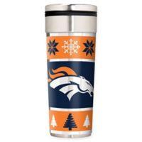 "NFL Denver Broncos 22 oz. ""Ugly Sweater"" Stainless Steel Travel Tumbler"