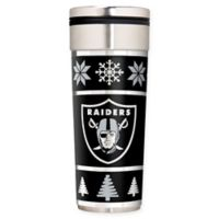 "NFL Oakland Raiders 22 oz. ""Ugly Sweater"" Stainless Steel Travel Tumbler"