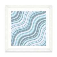 Blue Wave Pattern I Framed Art Print