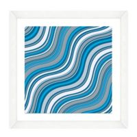Blue Wave Pattern II Framed Art Print